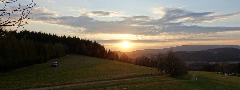 Východu slunce nad Novým Hrádkem