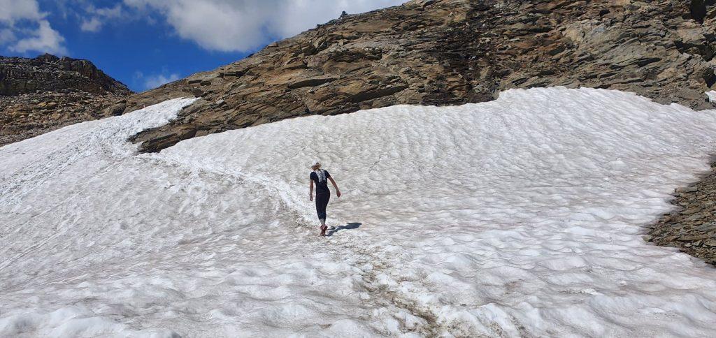 Smekačka na ledu cestou směr Spielmann