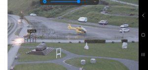 Budíček zachycený z webkamery, Máňa a helikoptéra :)