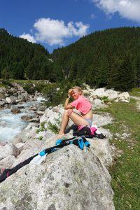 Relax u řeky nad Tauernhausem