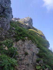 První úsek cesty ze Schafbergu, vyloženě běhatelný