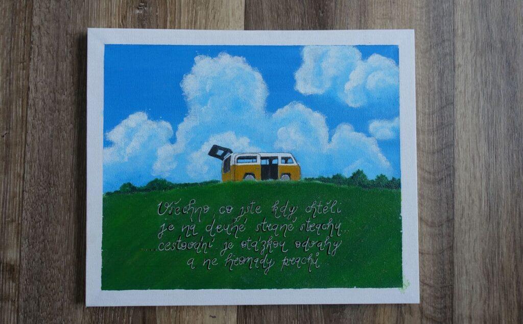 Cestování je otázkou odvahy... (25x30 cm)